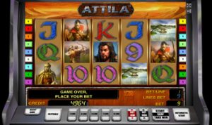 бонусная игра в автомате Attila